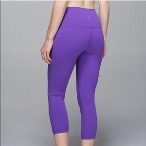 LuLu Lemon Cropped Purple Leggings